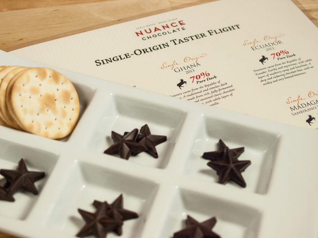 Vegan dark chocolate flight from Nuance Chocolate