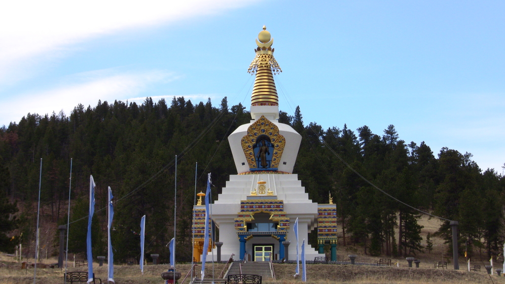 The Great Stupa in the mountains, awe inspiring inside and out